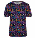 Space Jam pattern t-shirt