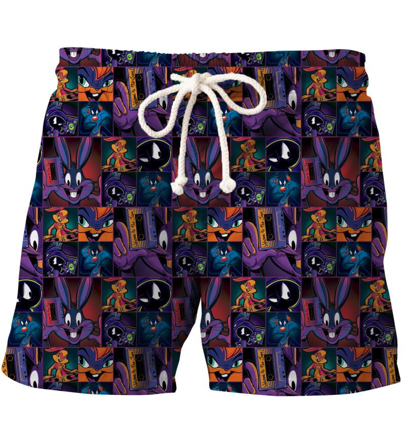 Space Jam pattern swim shorts