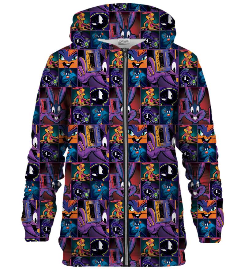 Space Jam pattern bluse med lynlås