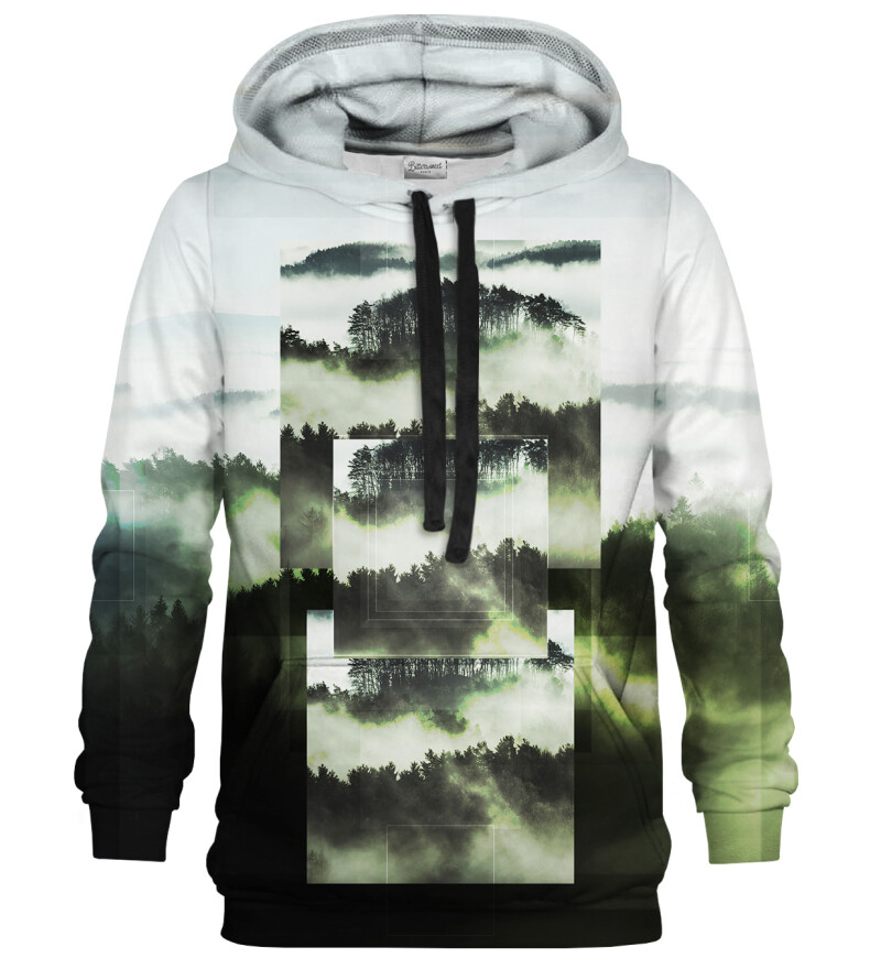 Square Forest Green hoodie