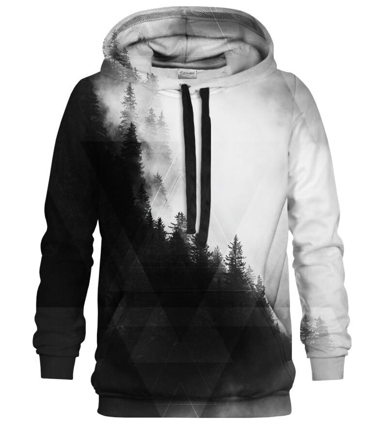Geometric Forest Grey hoodie