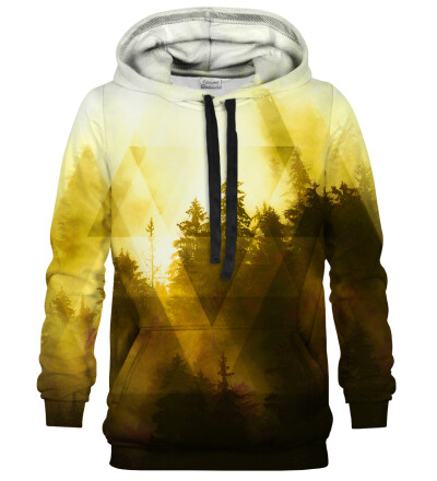 Symmetrical Yellow Forest hoodie