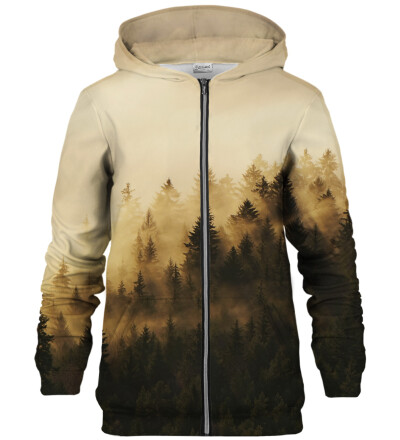 Sunny Morning Forest zip up hoodie