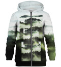 Square Forest Green zip up hoodie