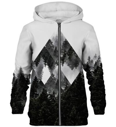 Rombic Forest Grey zip up hoodie