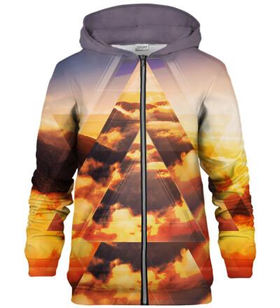 Geometric Sunrise zip up hoodie