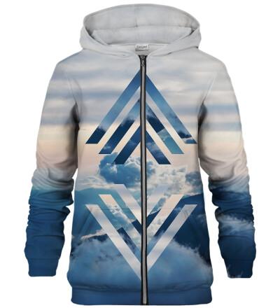 Geometric Clouds zip up hoodie