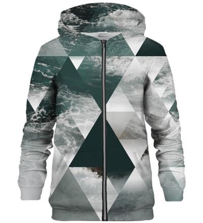 Symmetrical Clouds zip up hoodie