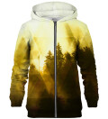 Symmetrical Yellow Forest zip up hoodie