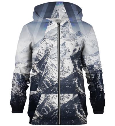 Snowy Mountain zip up hoodie