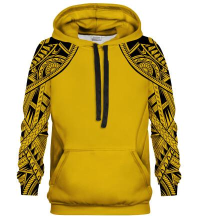 Bluza z kapturem Golden Polynesian Face