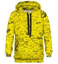 Printed Hoodie - Blah blah blah yellow