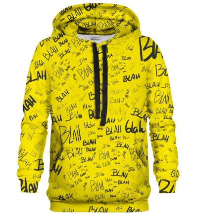 Bluza z kapturem Blah blah blah yellow