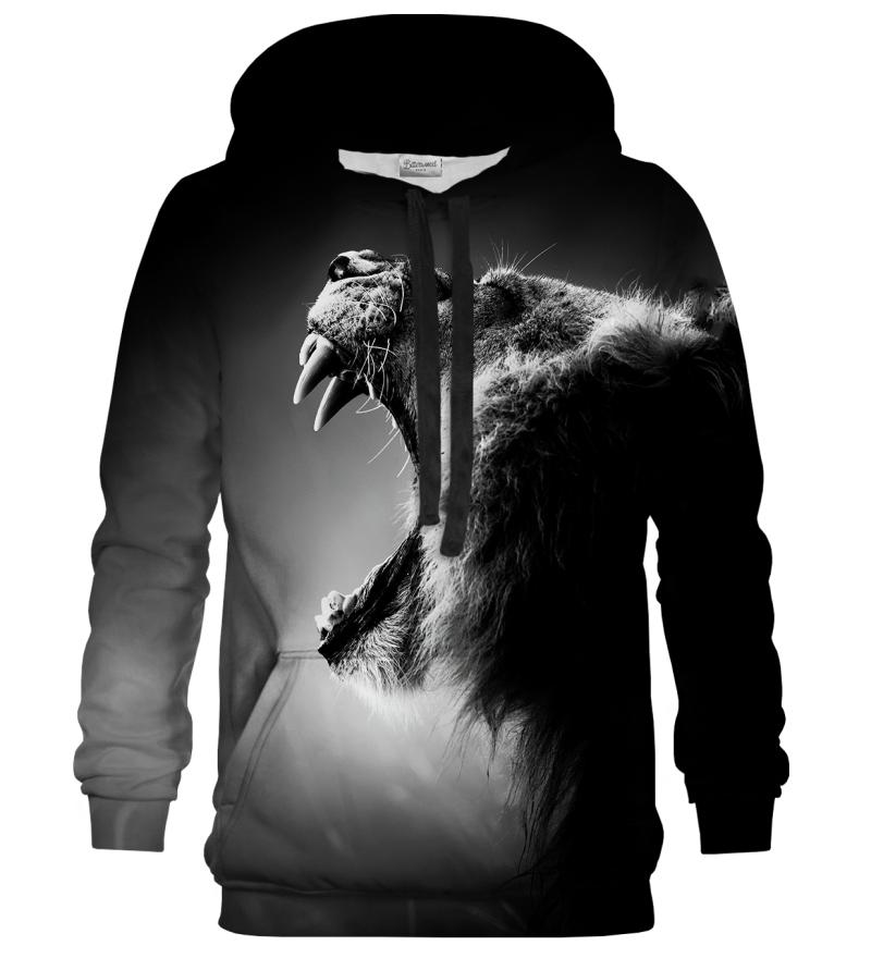 Printed Hoodie - Black Lion