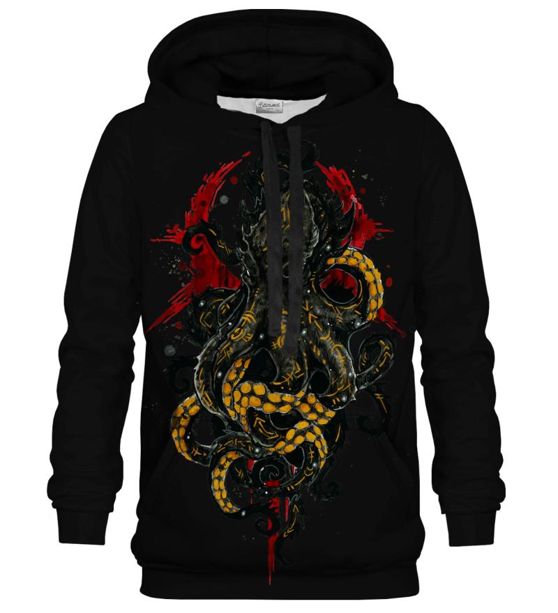 Printed Hoodie - Kraken Black
