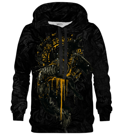 Printed Hoodie - Myth Orthrus Black