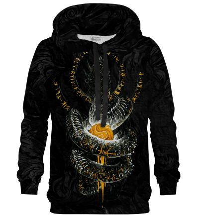 Printed Hoodie - Myth Jormungand Black