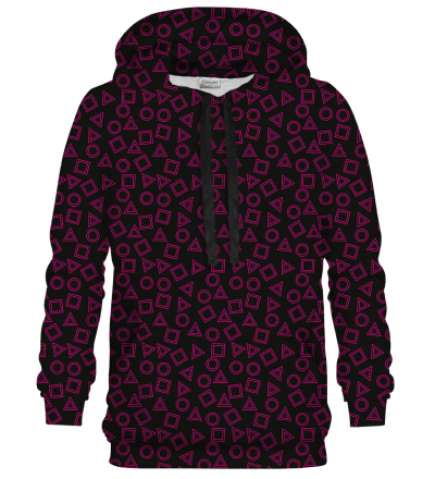 Printed Hoodie - Do you want to play?