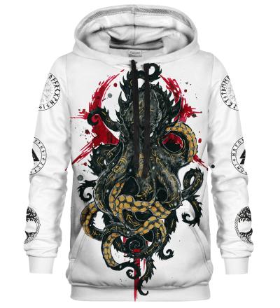 Printed Hoodie - Nordic Kraken
