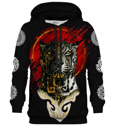 Printed Hoodie - Mexican Balam Black