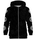Greek Orthrus Black zip up hoodie