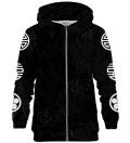 Asian Sanzuwu Black zip up hoodie