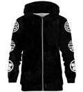 Asian Kitsune Black zip up hoodie