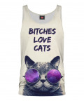 BITCHES LOVE CATS Tank Top