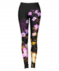 AWESOME FLOWERS WITH FLAME Leggings
