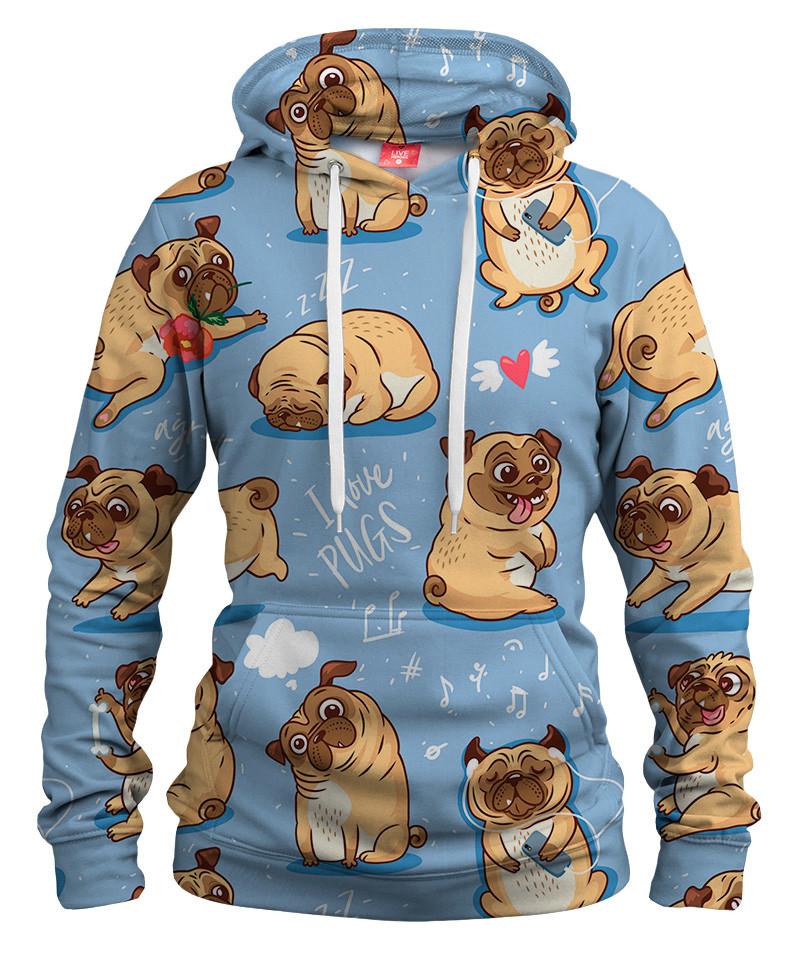 I LOVE PUGS Womens hoodie