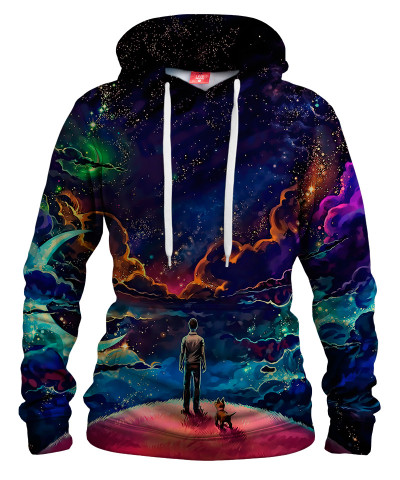 A MAN AND HIS DOG Womens hoodie