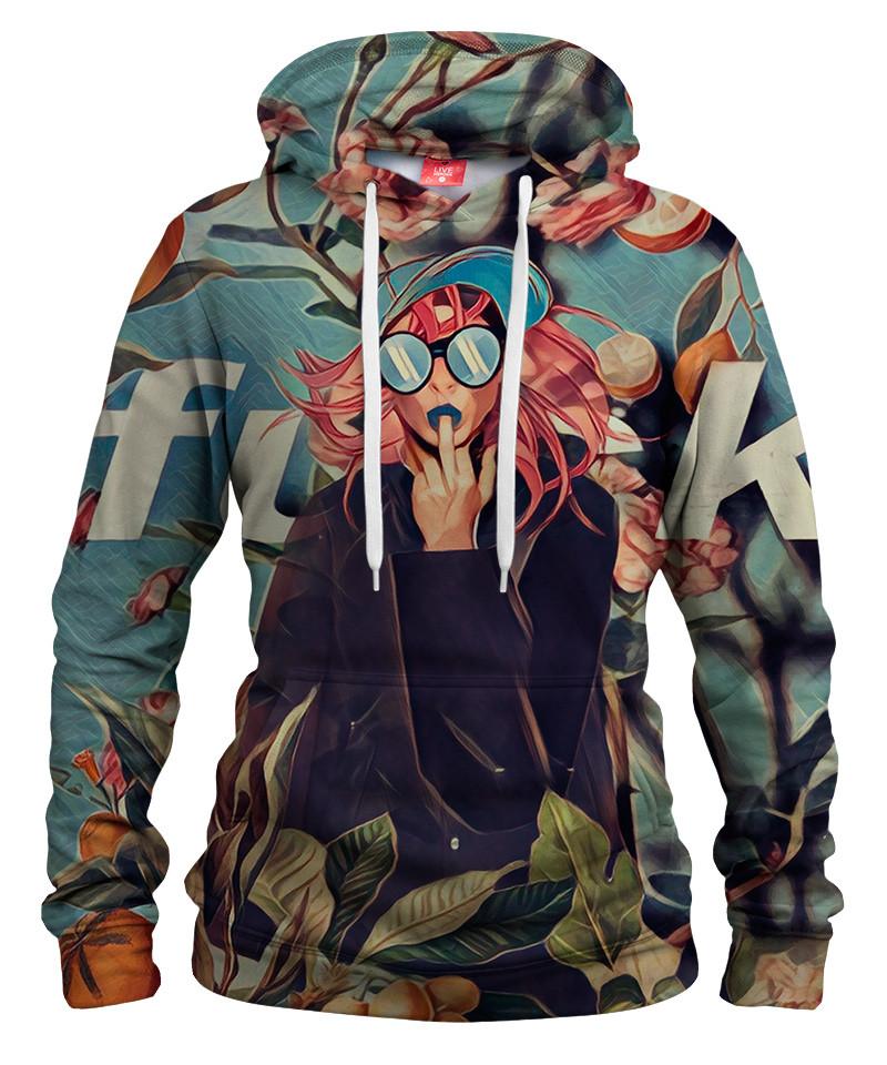 ORANGE AND FLORAL Womens hoodie
