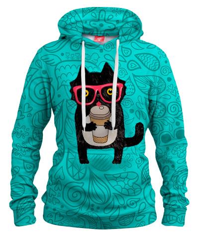 Damska bluza z kapturem COFFEE KITTY CAT