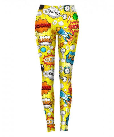 OMG COMICS YELLOW Leggings