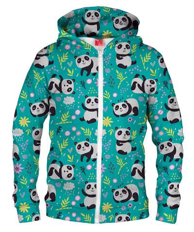 Bluza z zamkiem PANDA'S PATTERN