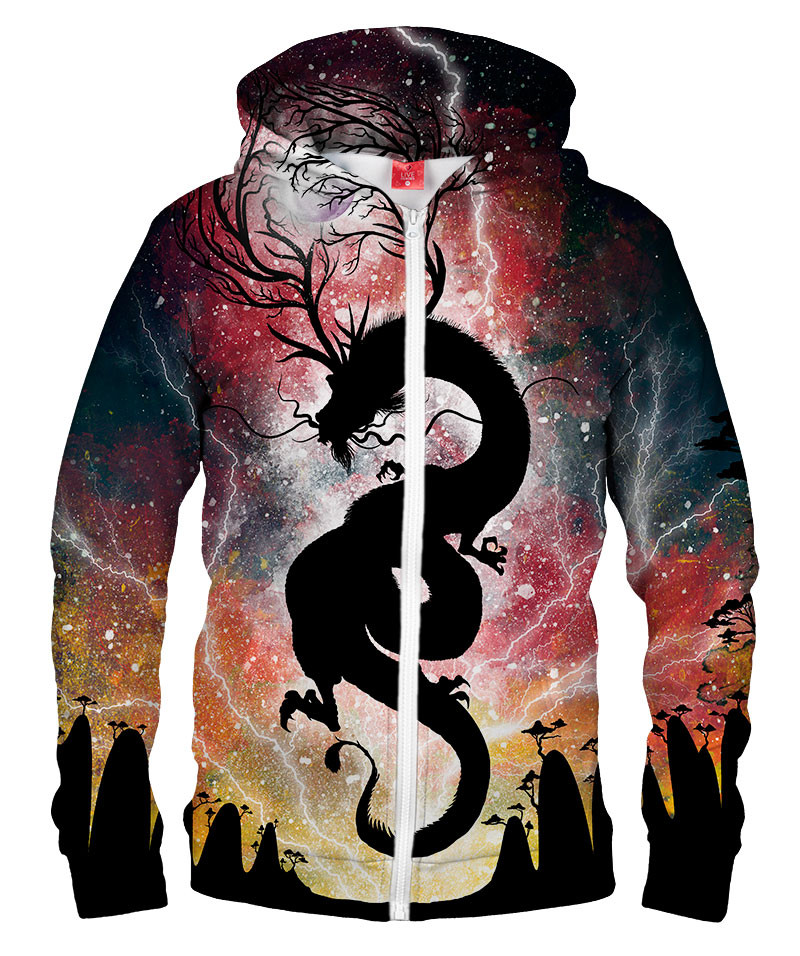 THE DRAGON THAT STOLE THE MOON Hoodie Zip Up