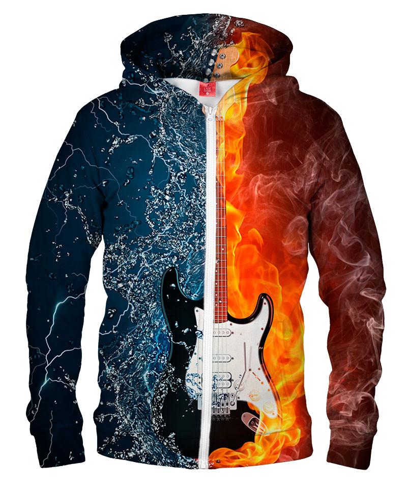 WATER FIRE GUITAR Hoodie Zip Up