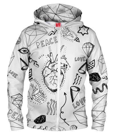 Bluza z zamkiem PEACE & LOVE
