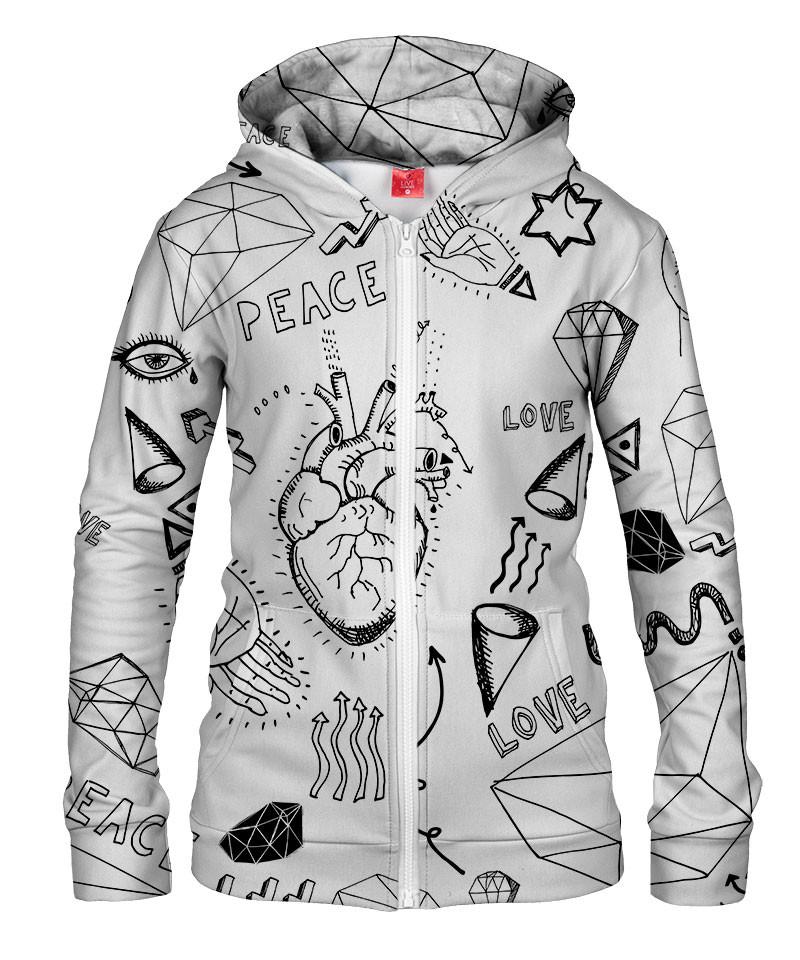 Damska bluza z zamkiem PEACE & LOVE