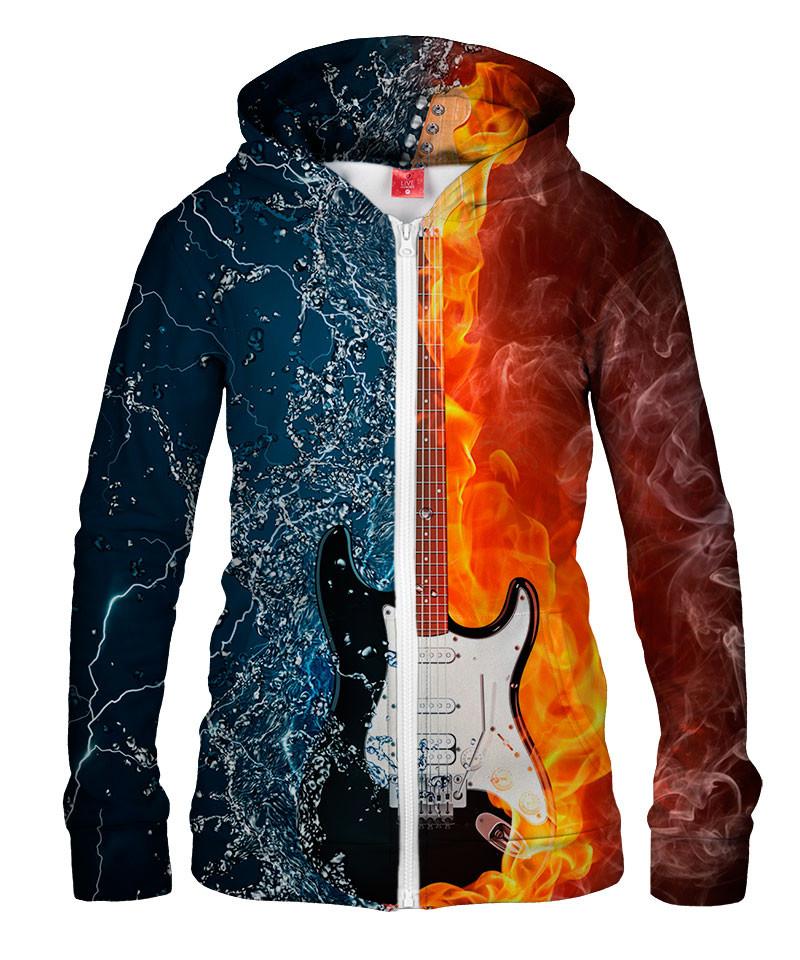 Damska bluza z zamkiem WATER FIRE GUITAR