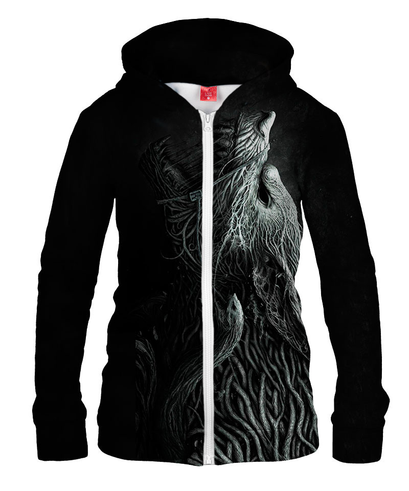INFESTED WOLF Womens Hoodie Zip Up