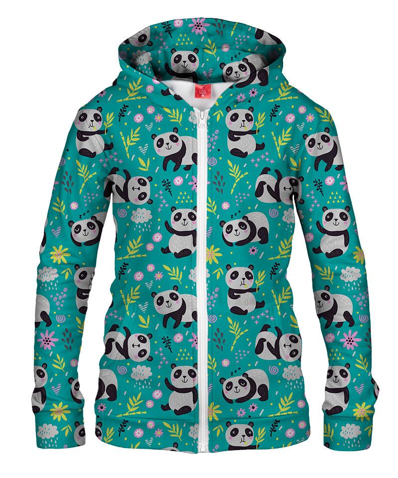 Damska bluza z zamkiem PANDA'S PATTERN