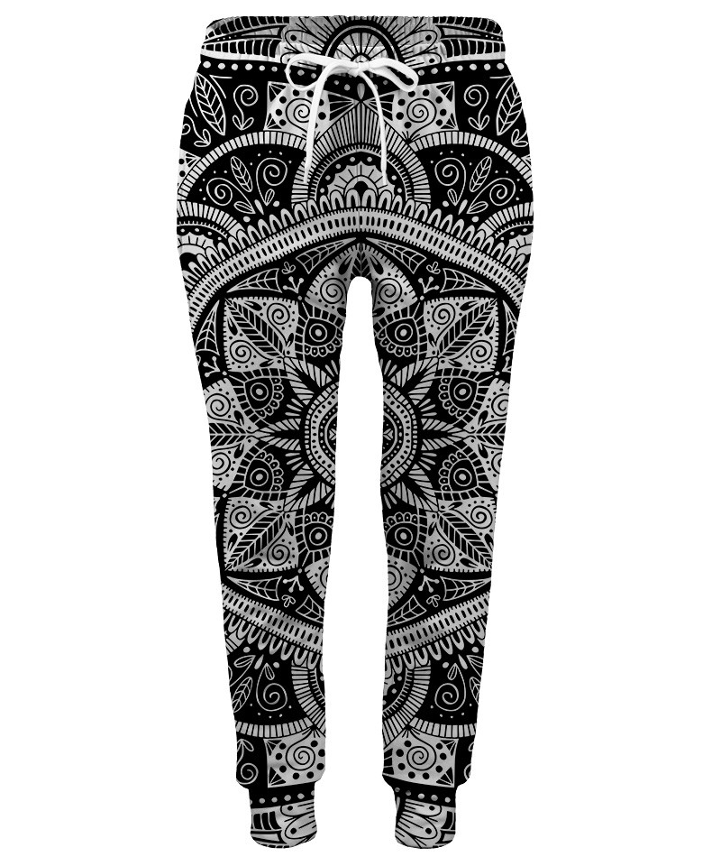 Spodnie damskie BLACK AND WHITE MANDALA