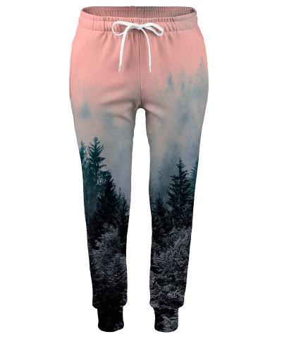 Spodnie damskie FOREST GREY AND PINK