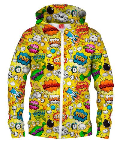 Bluza z zamkiem OMG COMICS YELLOW