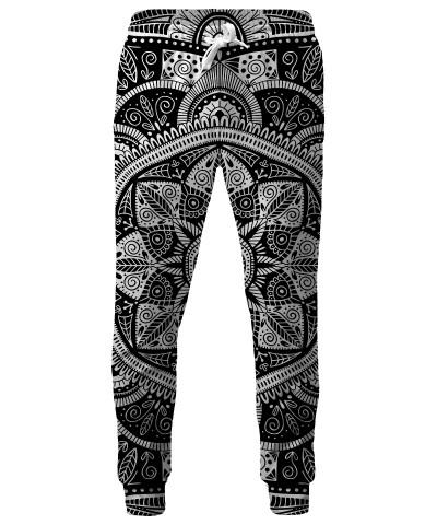 BLACK AND WHITE MANDALA Sweatpants