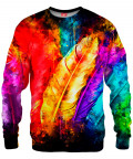 COLORFUL BIRD FEATHERS Sweater