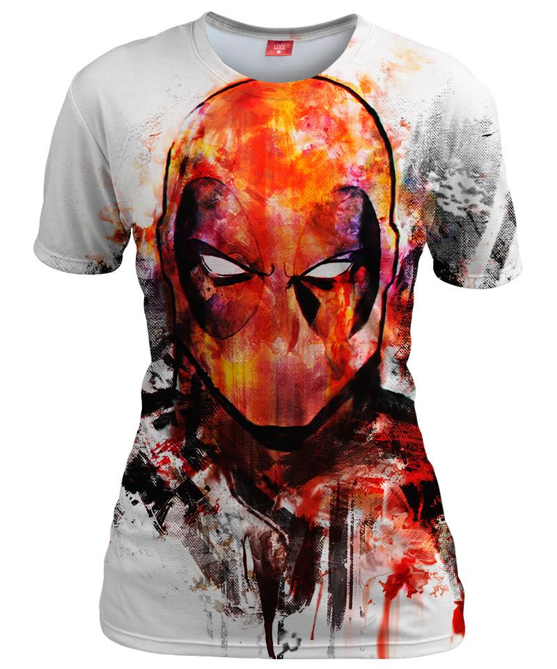 DEADPOOL FACE Womens T-shirt
