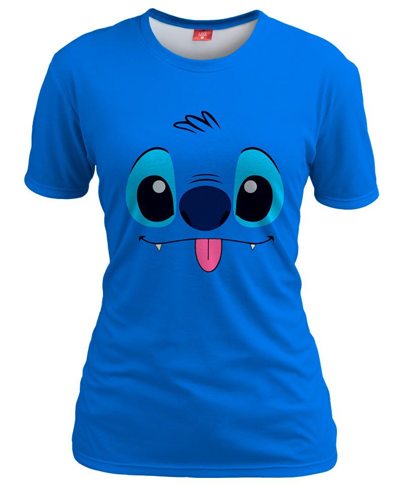 BLUE ALIEN Womens T-shirt