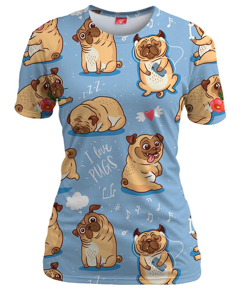 I LOVE PUGS Womens T-shirt